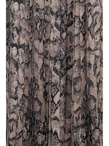 Elvi Plus Size Multi Snake Print Skirt