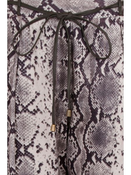 Elvi Plus Size Snake Print Relazed Trousers