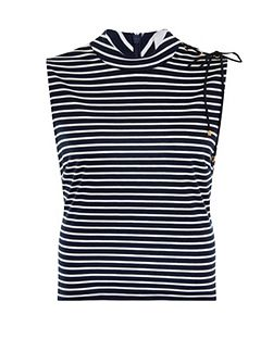 Plus Size Nautical Sleeveless Top