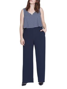 Elvi Plus Size Navy Nautical Jumpsuit