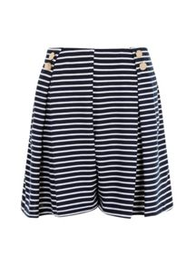 Elvi Plus Size Nautical Wide Leg Shorts