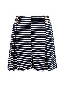 Plus Size Nautical Wide Leg Shorts