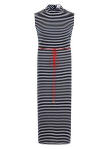 Elvi Plus Size Nautical High Neck Maxi Dress