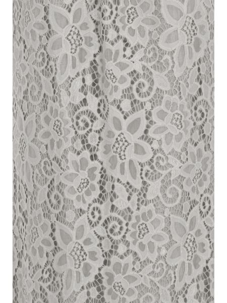 Elvi Plus Size Grey Lace Shoulder Dress