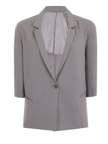 Elvi Plus Size Grey Blazer