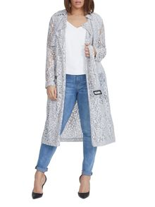 Elvi Plus Size Grey Lace Mac