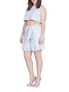 Elvi Plus Size Ice Snake Blue Shorts