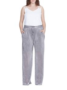 Elvi Plus Size Silver Trousers