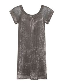 Elvi Plus Size Silver Sequin Dress