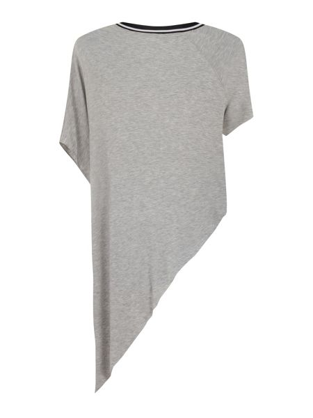 Elvi Plus Size Grey Jersey Assymetric Top