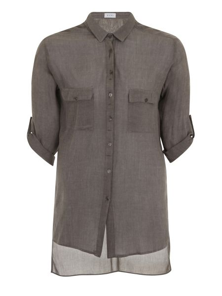 Elvi Plus Size Grey Shirt