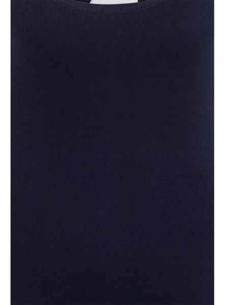 Elvi Plus Size Navy Ribbed Cami