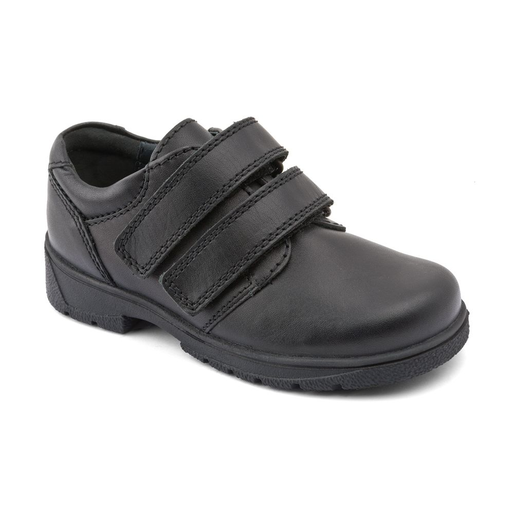 Infant boy`s rotate black shoes