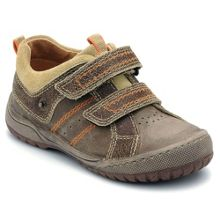 Boy`s naples brown leather shoes