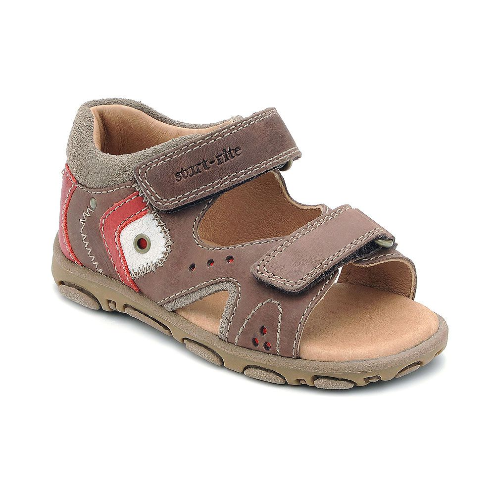 Boy`s genoa brown leather sandal