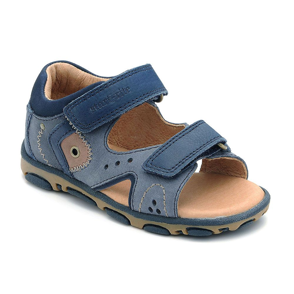 Boy`s genoa navy blue leather sandals