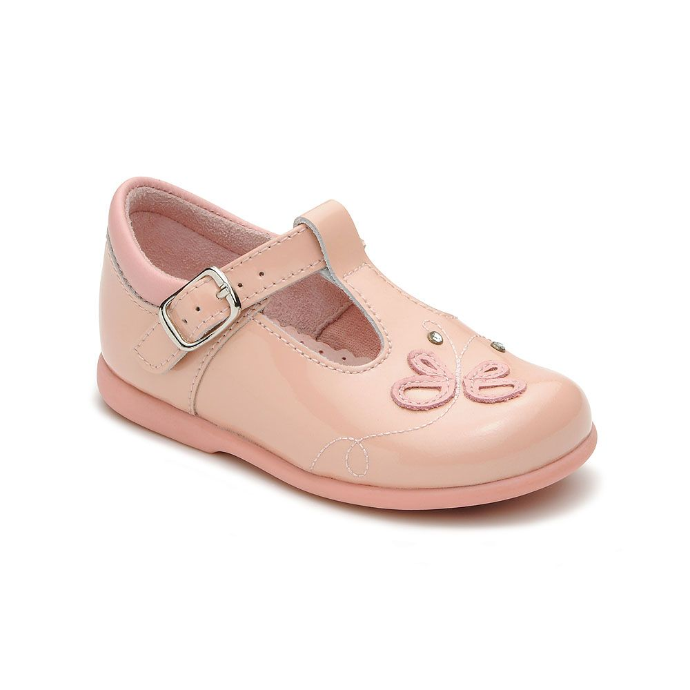 Girl`s pixie pink patent shoes
