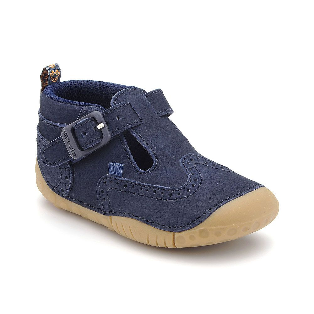 Boy`s harry navy leather shoes