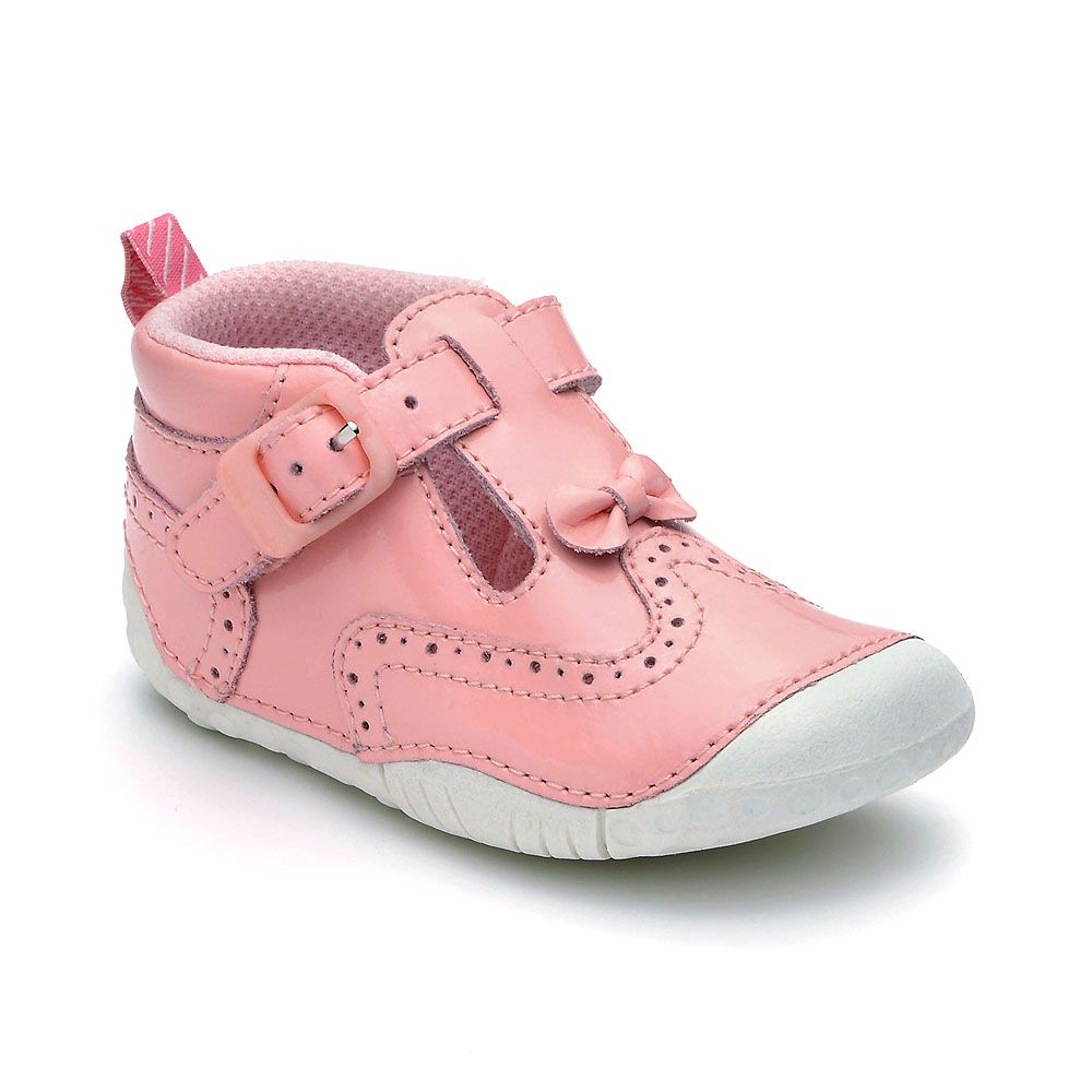 Girl`s may pink patent shoes