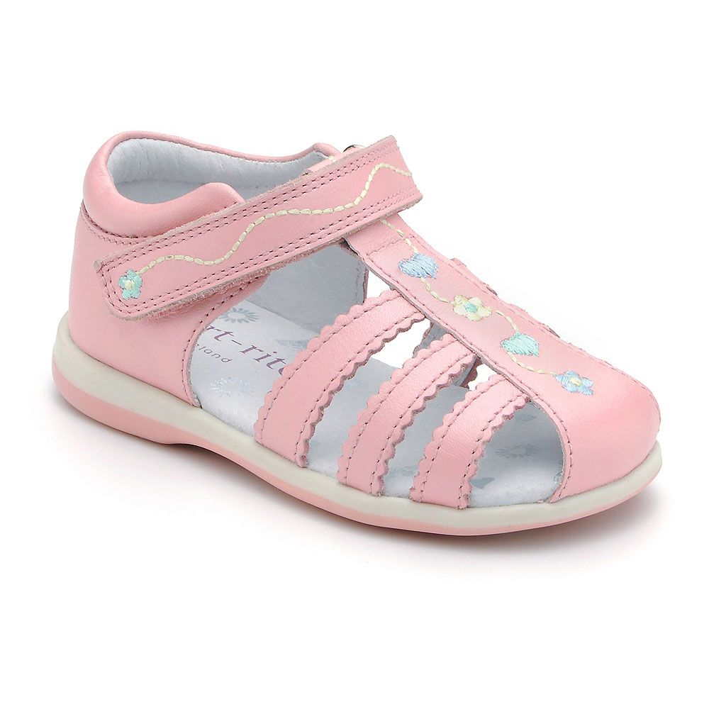 Girl`s cadenza pink leather sandal