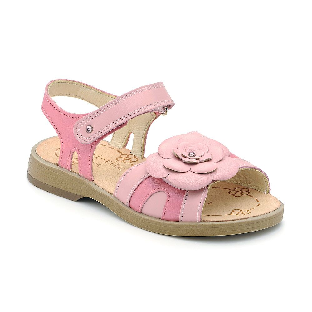 Girl`s ava pink leather sandal