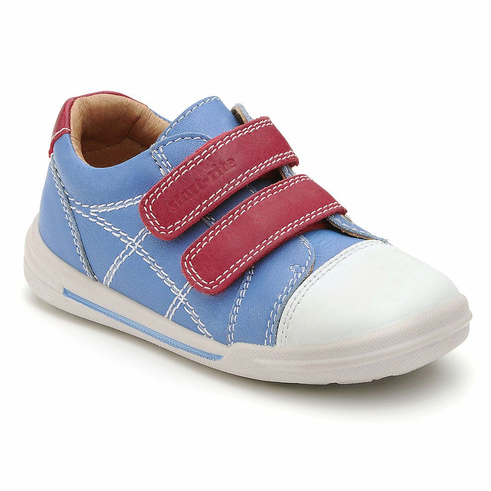 Boy`s flexy-soft milan blue leather shoes