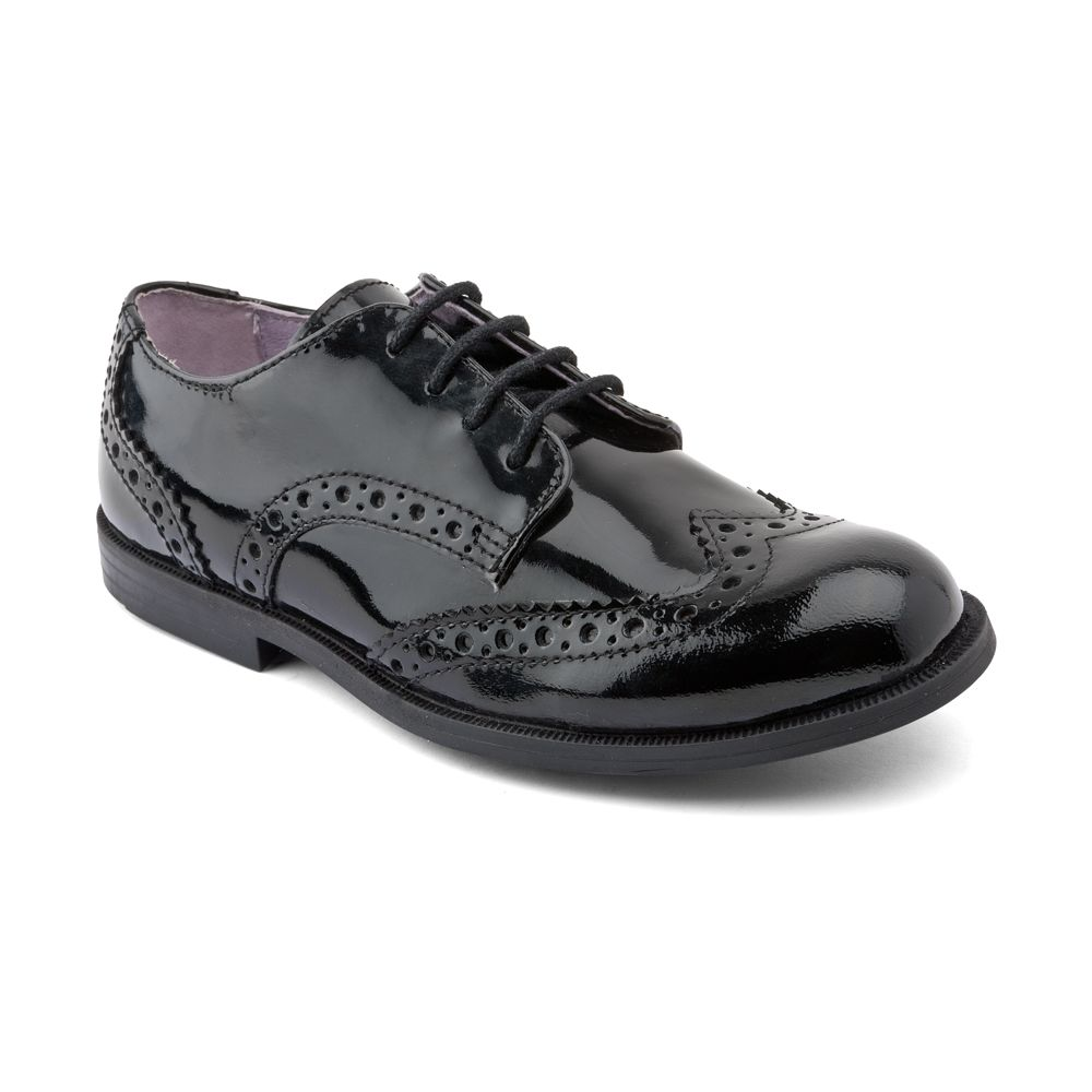 Junior girls burford patent shoes
