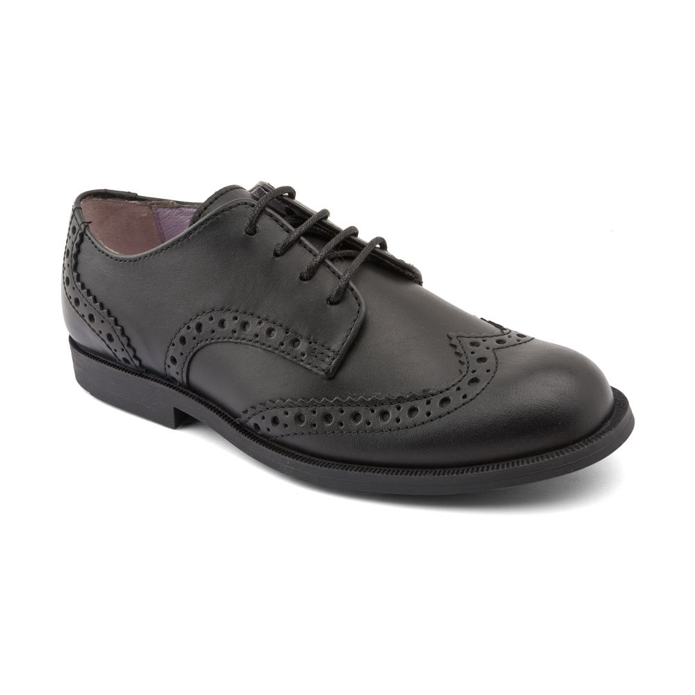 Girls leather burford school shoes