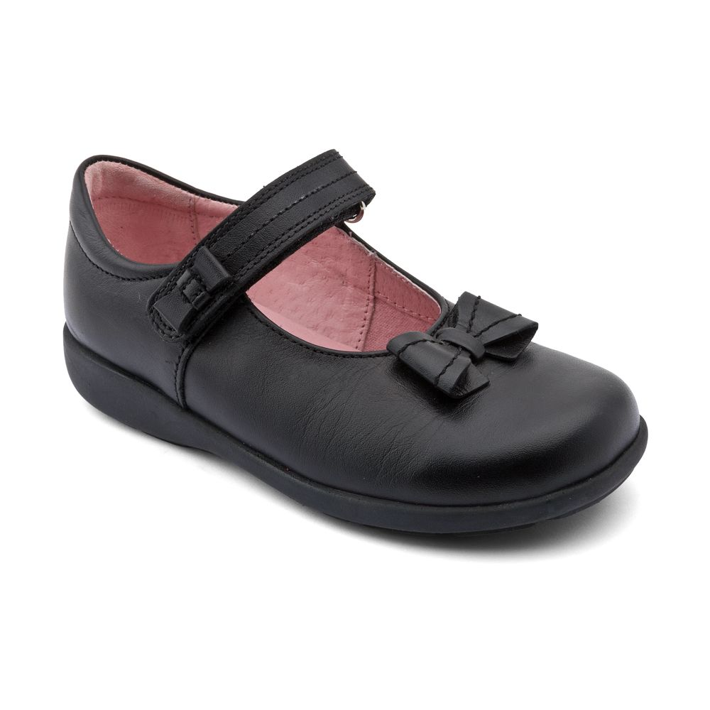 Infant girl`s viola leather shoes