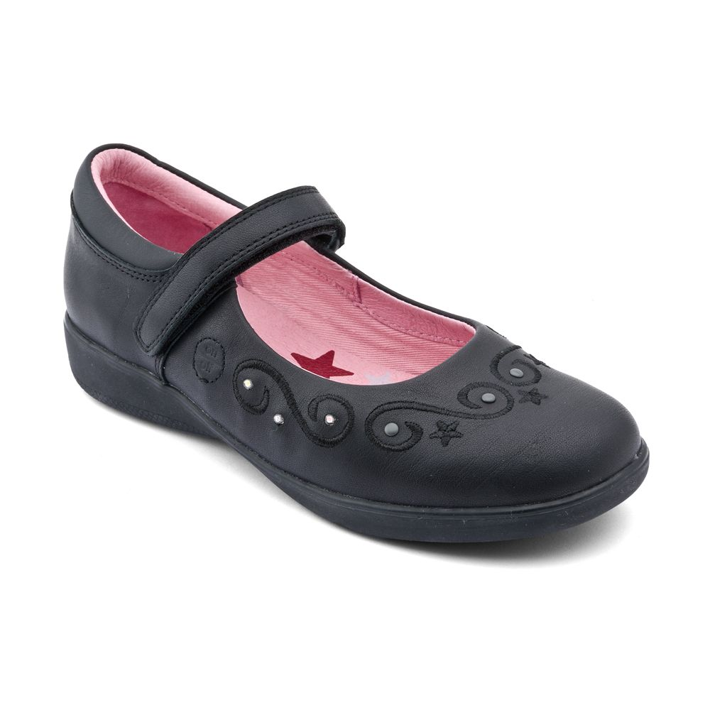 Infant girl`s twinkle stars leather shoes