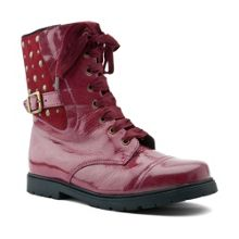 Infant girl`s rock star patent boots