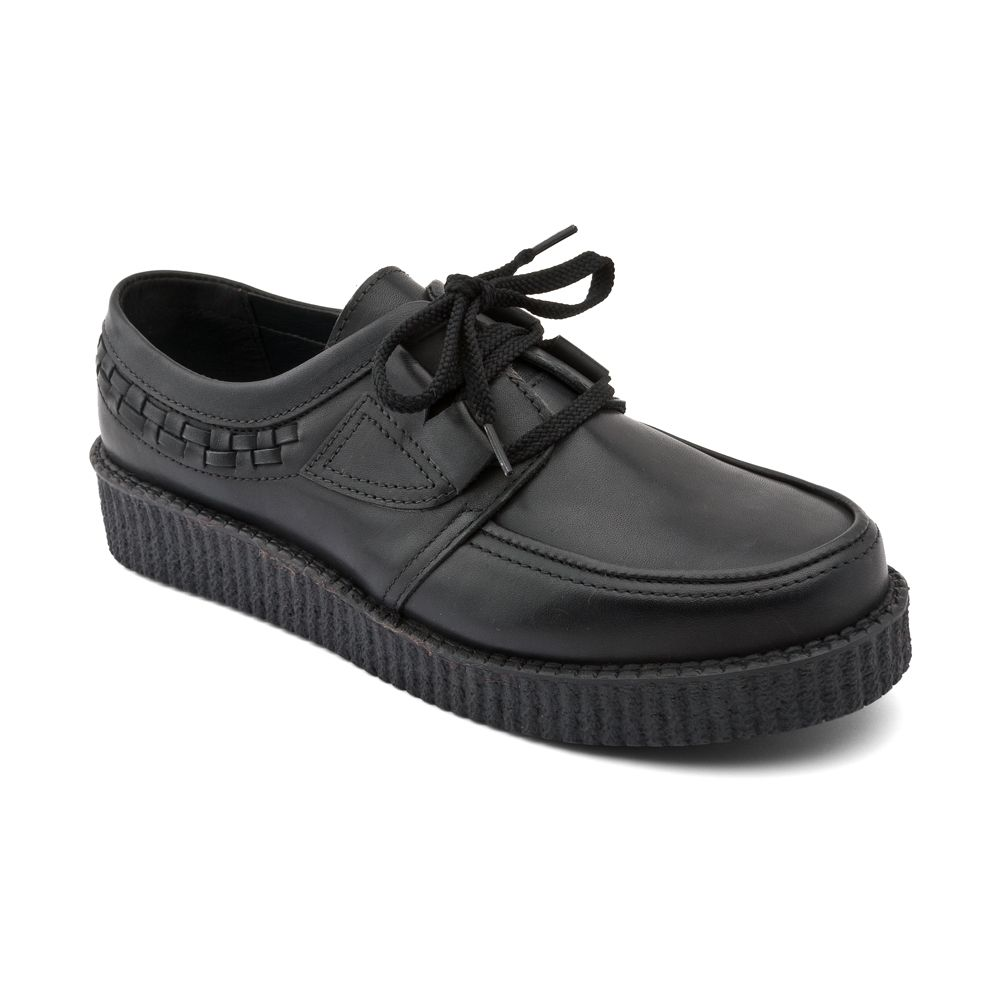 Angry angel`s creeper leather shoes