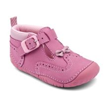 Girl`s may pink nubuck pre-walker shoes