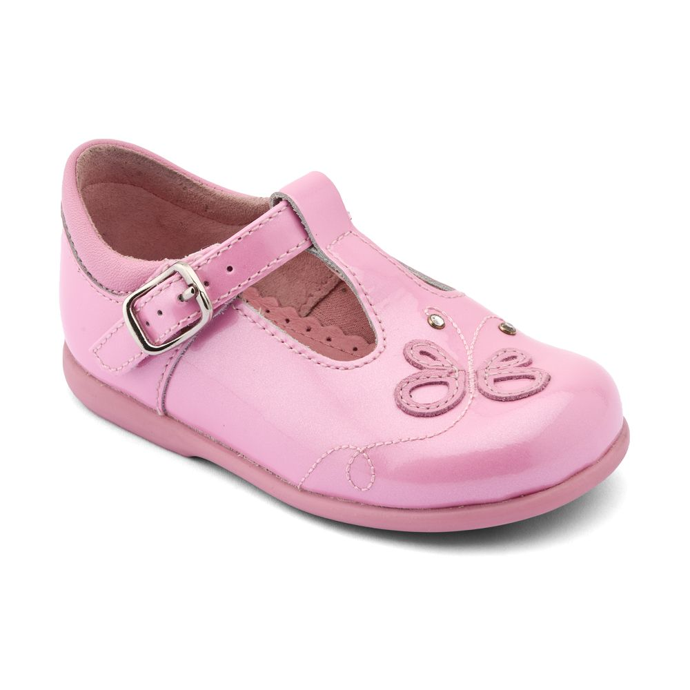 Girl`s pixie patent first walker shoes