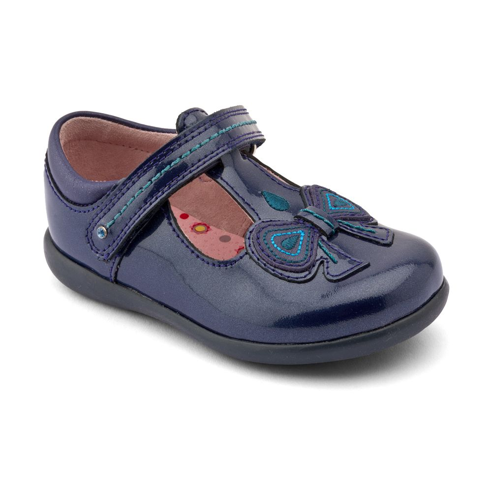 Girl`s scilla patent first walker shoes