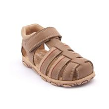 Boy`s angler brown leather sandals