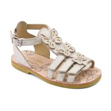 Girl`s fiji champagne leather sandals