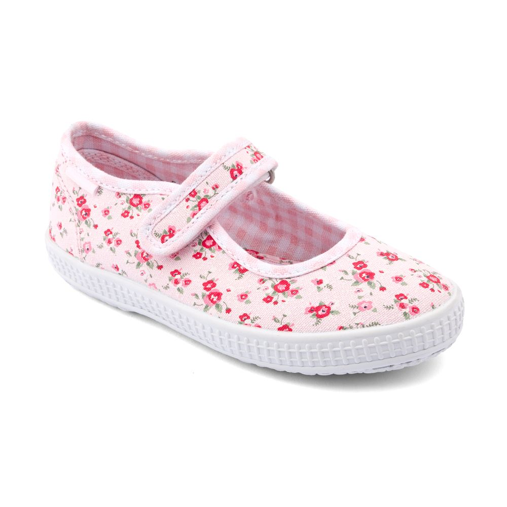 Girl`s cherish navy blue canvas shoes