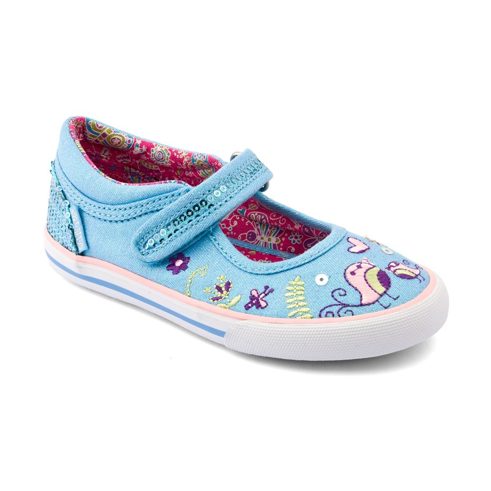 Girl`s posy pink floral canvas shoes