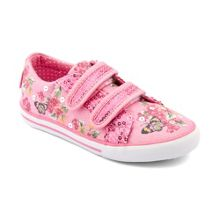 Girl`s paradise blue sparkle canvas shoes