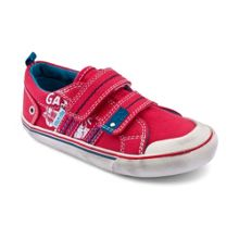 Boy`s skate park blue canvas shoes