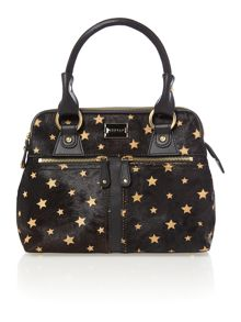 Pippa black star mini tote bag