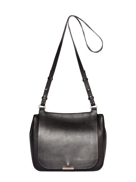 Modalu Margot leather saddle crossbody bag