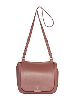 Margot leather saddle crossbody bag