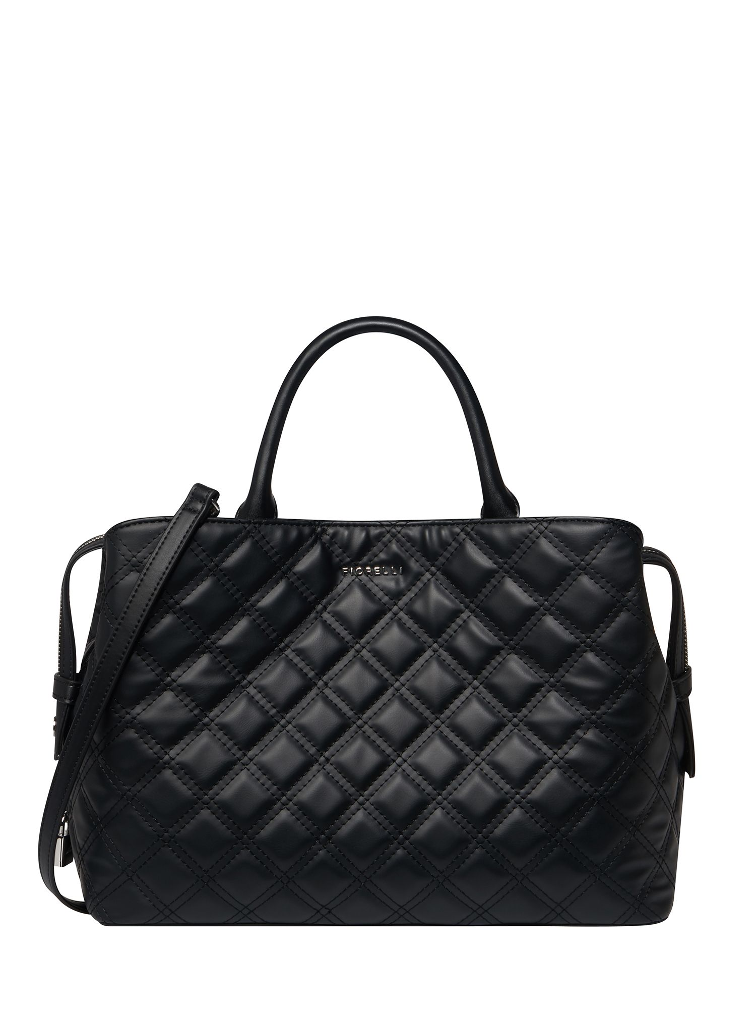 Fiorelli Bethnal triple compartment tote bag, Black Quilted