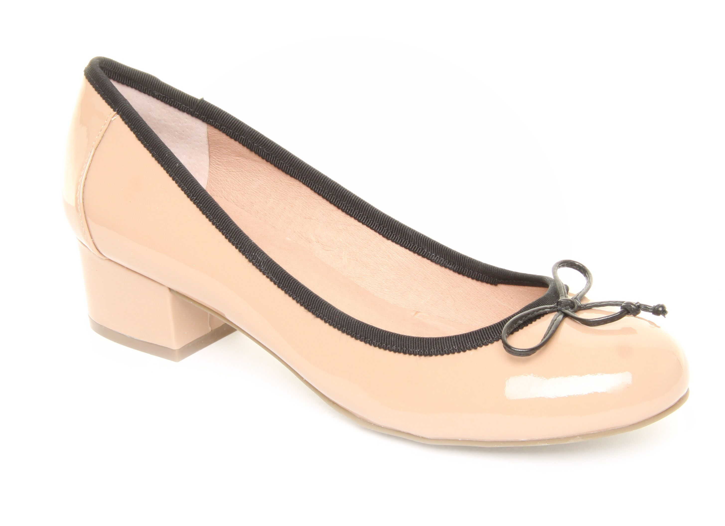 Bramley low heeled court shoes