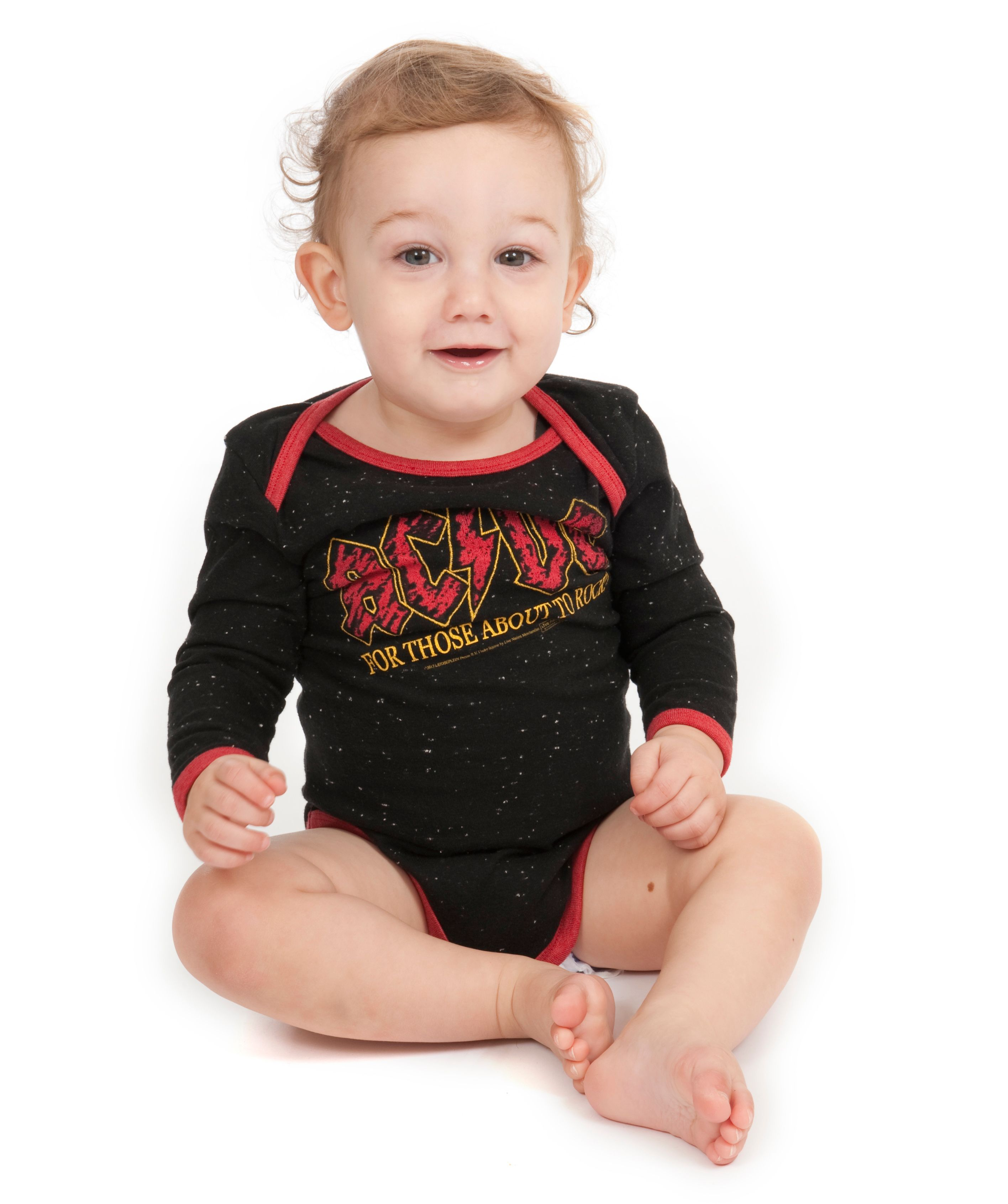 Baby`s AC/DC About To Rock speckle babygrow