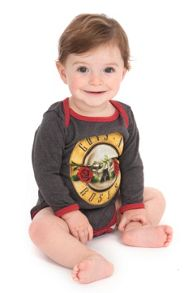 Amplified Kids Babies Guns `N` Roses Drum Marl Babygrow
