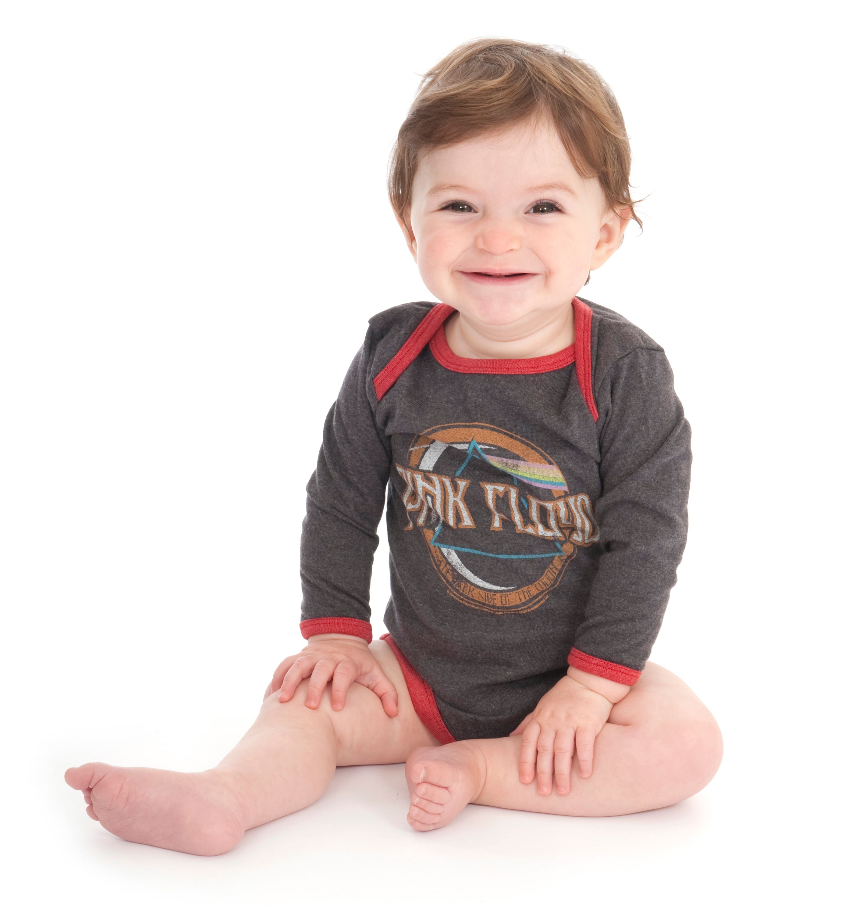 Baby`s Pink Floyd On The Run marl babygrow