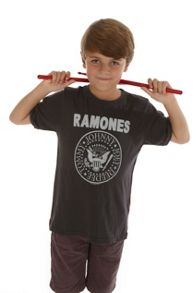 Amplified Kids Kids Ramones Logo Vintage Wash T-Shirt